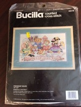 "Bucilla FRIENDSHIP BEARS 16"" x 10"" Counted Cross-Stitch Kit #40516 Linda Gillum - $24.75"