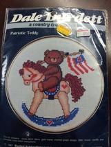 Dale Burdett PATRIOTIC TEDDY w/ Frame Counted Cross Stitch Kit CK613 NEW... - $8.42