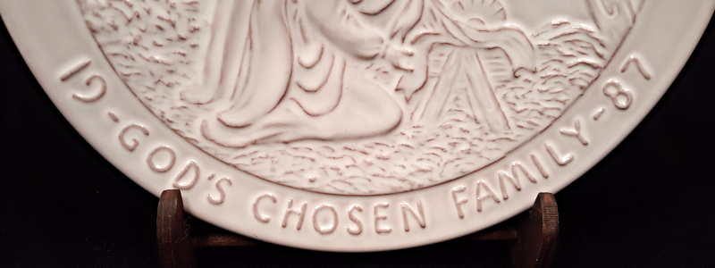 Frankoma Plate God's Chosen Family 1987