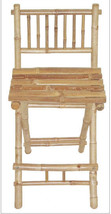 Bamboo Tiki Patio Deck Folding Bar Stools Set of 2 - $186.15