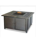 """Uniflame 41"""" Copper Accent Slate Mantel 30,000 btu lp Patio Deck Firepit - $739.00"""