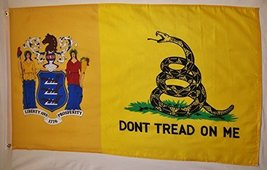 New Jersey Gadsden Flag 3' X 5' Indoor Outdoor Banner - $10.95