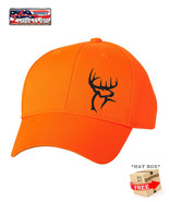 BLAZE ORANGE HUNTING DEER BUCK Camouflage HAT *FREE SHIPPING in BOX* - $15.99