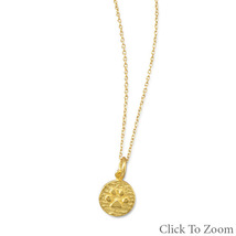 Gold Chain Necklace with Paw Print Pendant - $36.98
