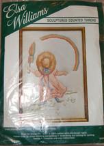 Elsa Williams Sculptured Counted Cross Stitch Kit Girl Umbrella Rainbow ... - $9.90