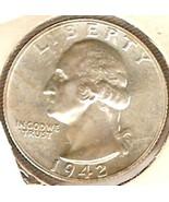 Washington Quarter 1942  Proof - $120.00