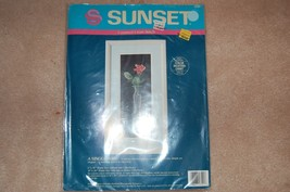 "Sunset Counted Cross Stitch Kit A SINGLE ROSE 6"" x 16"" - $12.87"