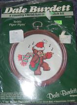 New Vintage Burdett Teddy Bear Piper Pipin' Christmas Cross Stitch Kit w... - $8.91