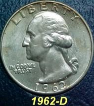 Washington Quarter 1962-D EF 101 - $8.04