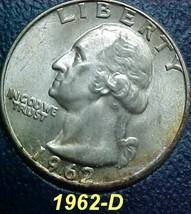 Washington Quarter 1962-D EF 102 - $8.04
