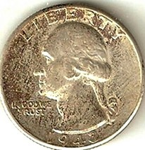 Washington Quarter 1943 AU #101 - $9.14