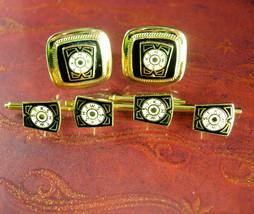 Complete Masonic Cufflink Set Vintage tuxedo Shirt Studs Men's fraternal... - $145.00