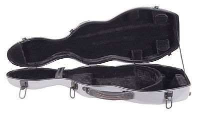 TONARELI Fiberglass Violin 4/4 Full Hard Case - SILVER - Authorized Distributor!