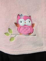 Circo Target Pink Baby Blanket Owl Bird Embroidered Soft Plush Fleece Fo... - $306,38 MXN