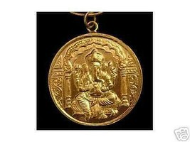 LOOK 0641 Gold Plated Hindu Ganesh OM Silver Charm Pendant - $32.82