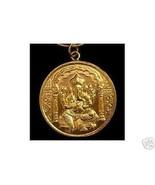 LOOK 0641 Gold Plated Hindu Ganesh OM Silver Charm Pendant - $32.82