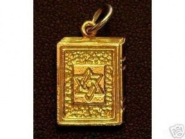 LOOK 0894 Jewish Charm Torah Star of david Gold Plated - $21.23