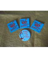 Happy 100th Birthday Dr. Seuss!~2003~three 2 inch square buttons and more! - $9.95