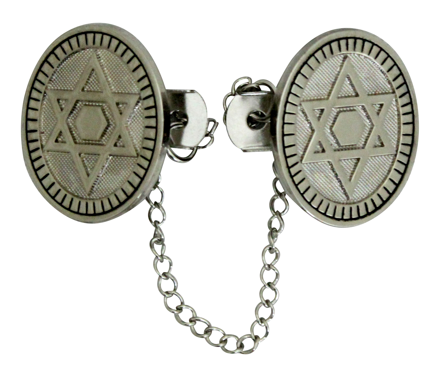 Tallit Talis Clips Prayer Shawl Holder Magen David Star Eliptic Judaica