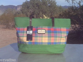 New! Green-Plaid [Tommy Hilfiger] Shoulder Tote Lab Top Travel Carry-On Bag - $79.08
