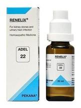 Adel Homeopathy Renelix Drops 22 Kidney Stone Cystitis 20mL - $12.19