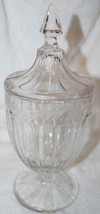 WESTMORELAND COVERED CANDY DISH/COMPOTE-ETCHED ... - $5.89