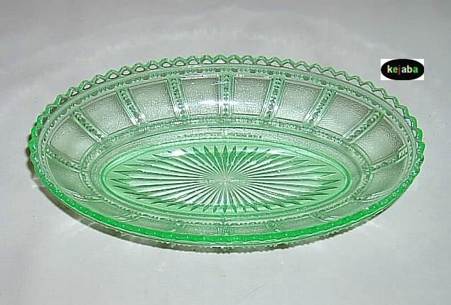 Beaded Block Green Bowl 8 1/2 in. Celery Imperial - $14.95