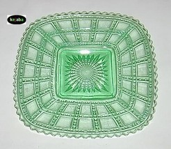 Beaded Block Green Plate 7 3/4 in. square Imperial - $12.95
