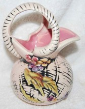 "HULL ""BLOSSOM FLITE"" PITCHER--PINK INSIDE - $18.69"