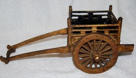 VINTAGE MINIATURE IRON CART - $11.29