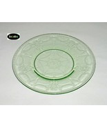 Cameo Ballerina Green Plate 8 1/4 in. Luncheon Hocking - $11.00