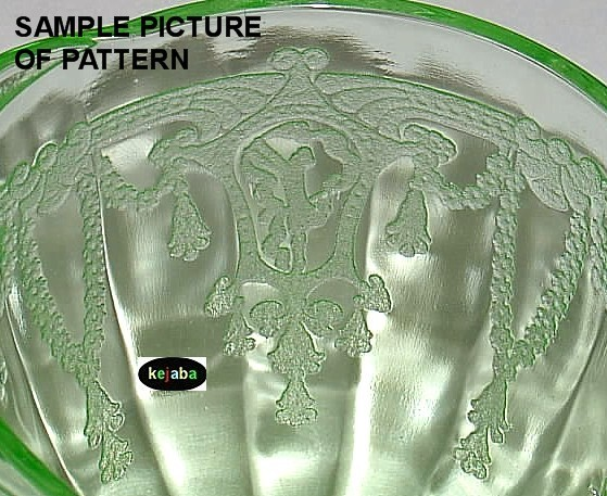 Cameo Ballerina Green Plate 8 1/4 in. Luncheon Hocking image 2