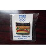 1992 Barcelona Olympics USA swimming label pin~1 inch~NIP~ - $10.50