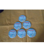 VOTE!~Eileen Christelow~six, 3-inch promo buttons~ - $9.95