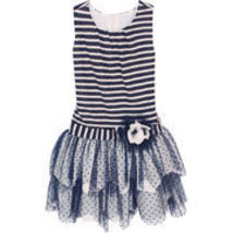 Isobella & Chloe - Big Girls MARINA_ Drop Waist Dress