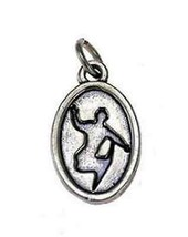 LOOK New Really cool Snowboarding Charm sterling silver .925 - $19.31