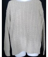 Vintage Polo Ralph Lauren Linen Blend Crewneck Sweater Medium M Beige - $18.69