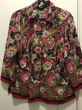 Sag Harbor Red Green Button Down Shirt Size 14 - $14.96