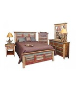 King Size Cabana Multi Colored Louvered Bedroom Set - $3,217.50