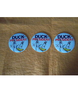 DUCK for President~Doreen Cronin,Betsy Lewin~three, 3-inch promo buttons... - $9.95