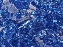 """10 Lbs of Fire Glass 1/4"""" Deep Sea Cobalt Blue Fireglass for Fireplace - $28.71"""