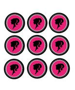 12 Barbie inspired Stickers, Birthday Party Favors, Goody bag labels,sil... - $8.99
