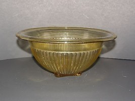VINTAGE FEDERAL GLASS AMBER GLOW RIBBED NESTING... - $14.95
