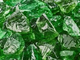 """10 Lbs of Fire Glass 1/2""""-3/4"""" Emerald Green Crushed Fireglass for Firep... - $29.00"""