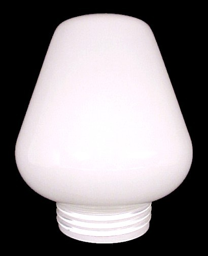 Glass Wall Lamp Shades : Milk Glass Threaded Light Shade 3 1/4x7x5 3/4 For Wall Lamp Ceiling Fixture - Shades