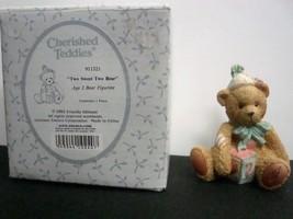 Cherished Teddies 911321 Age Two Bear Figurine - $4.25