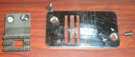 Viking 6430 Throat Plate #4111555 w/Screws & Feed Dog & Mounting Screws - $15.00