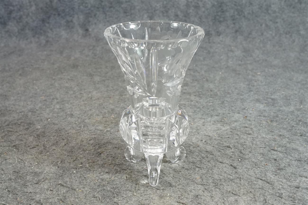 Vintage Etched Crystal 5 1/2