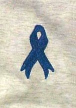 Blue Ribbon T Shirt XL Child Abuse Colon Cancer Awareness Ash Gray S/S U... - $18.59