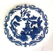 Blue Willow Embroidered 4XL White Crew Neck Sweatshirt Left Chest Unisex... - $36.23